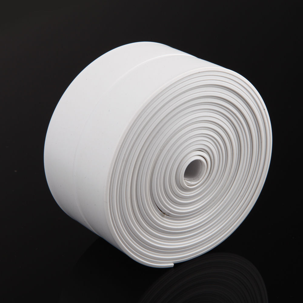 1 ROLL PVC Material Kitchen Bathroom Wall Sealing Tape Waterproof Mold Proof Adhesive Tile Crack Repair Mildew Tape 3.2mx2.2cm 1 roll pvc material kitchen bathroom wall sealing tape waterproof mold proof adhesive tape 3 2mx2 2cm