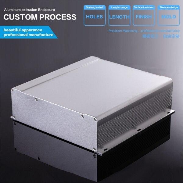 250*73.5*250mm (WxHxL) DIY circuit board aluminum housing Amp aluminum extrution  Industrial Control Equipment enclosure industrial equipment board pca 6114p10 b rev b1