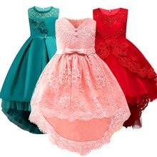 27dd0f019f2d1 2019 Çocuk Kız Düğün Zarif Çiçek Kız Elbise Prenses Parti Gösterisi Resmi  Uzun Kolsuz Dantel 3-15Yrs Büyük Boy Kız Elbise