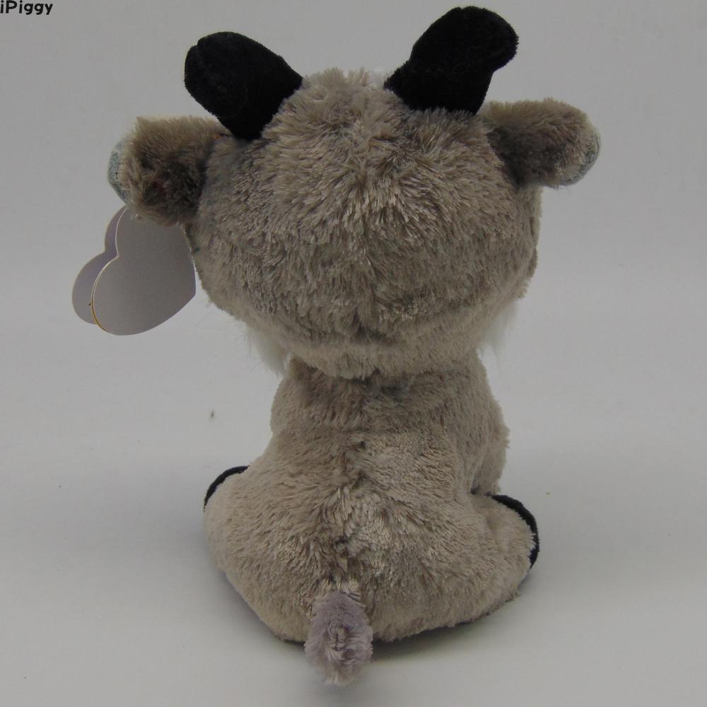 1e08428302a iPiggy Ty Beanie Boos 6   15cm Gabby the Goat Plush Regular Soft Big ...