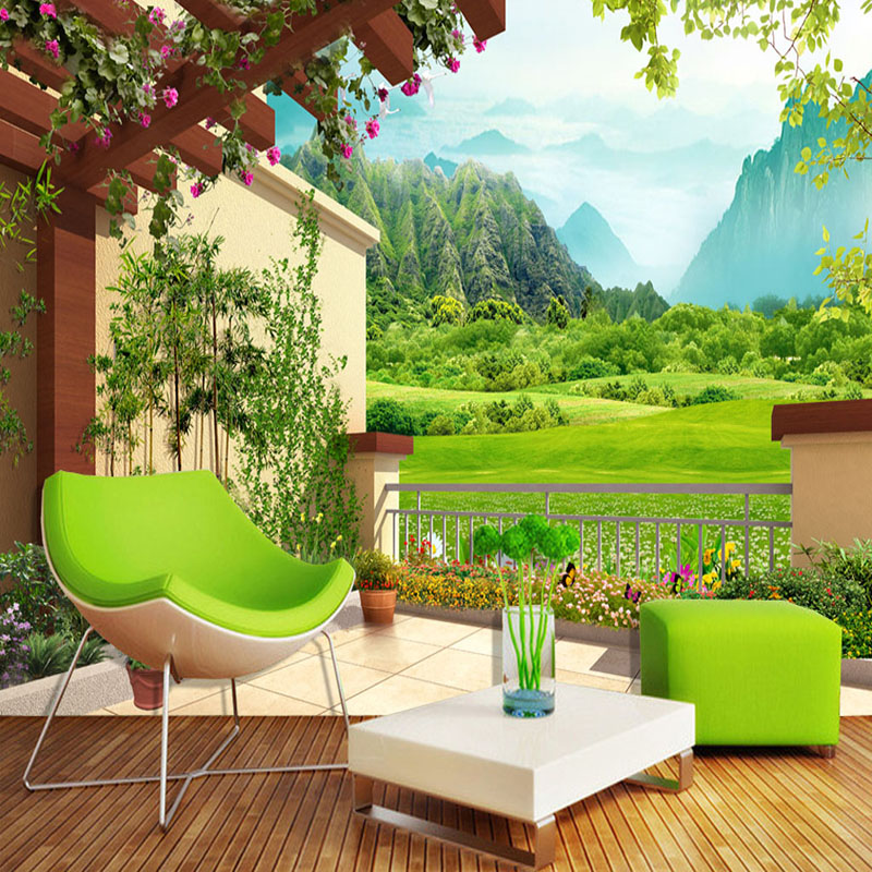 3D Wallpaper Classic Nature Scenery Courtyard Photo Mural Wall Paper Living Room TV Sofa Background Wall Decor Papel De Parede