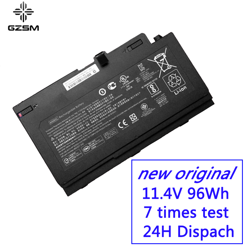 GZSM laptop battery AA06XL for HP ZBook 17 G4 2ZC18ES battery for laptop G4 1RR26ES HSTNN DB7L 852527 242 laptop battery-in Laptop Batteries from Computer & Office