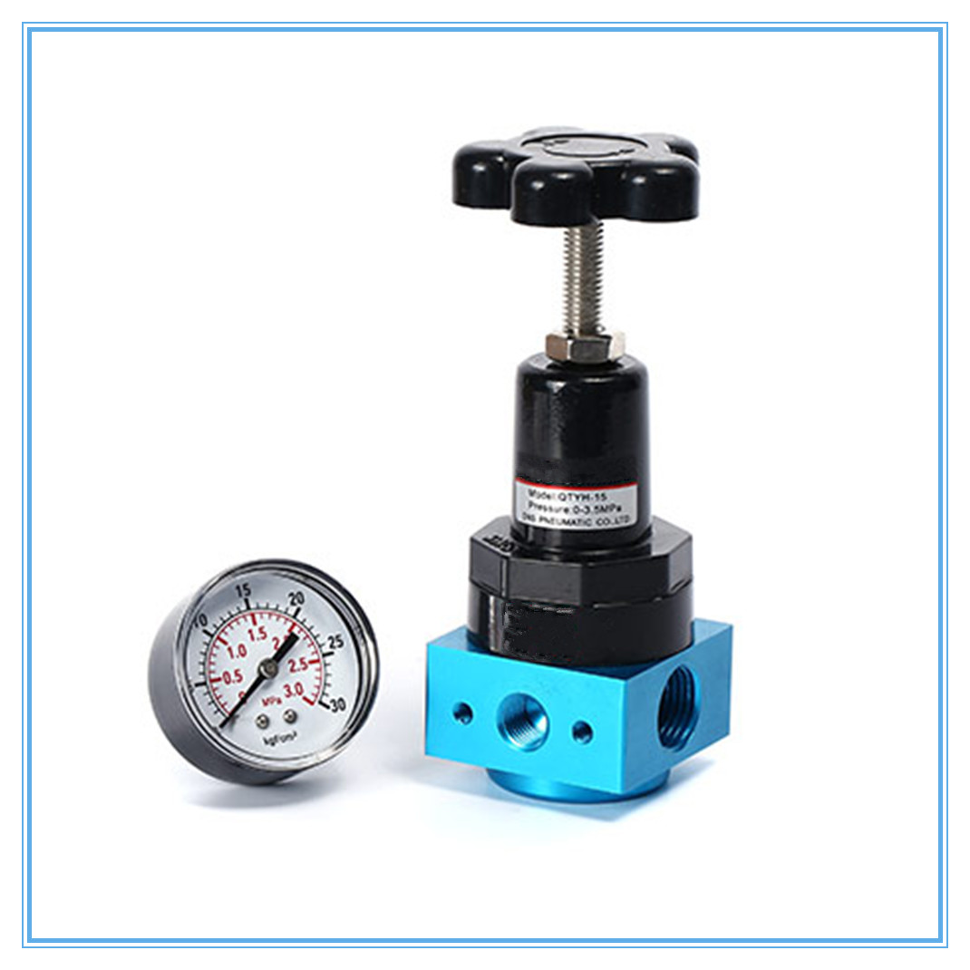 Pneumatic Air pump QTYH-08/10/15 High pressure Air pressure reducing valve 0.1-3Mpa pressure regulator
