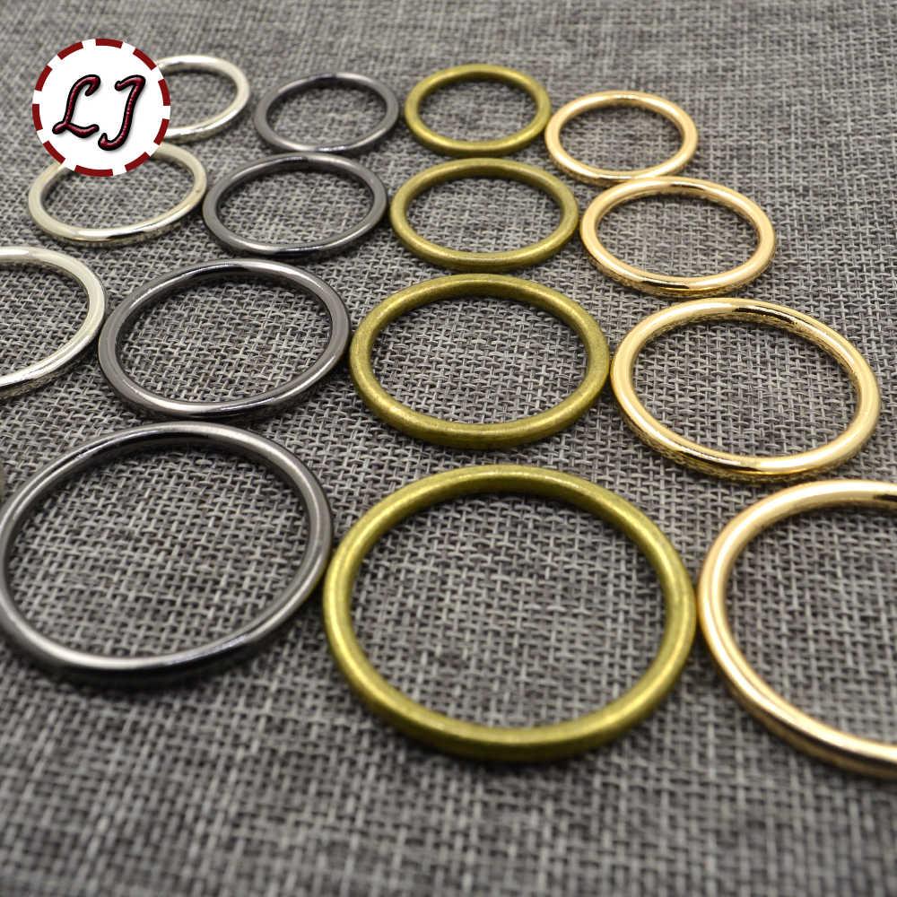 Groothandel 20 stks/partij 20mm/25mm/30mm/35mm brons goud zilver cirkel ring verbinding legering metalen schoenen tassen Riem Gespen DIY