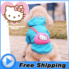 hello kitty small dog clothes hoodie coat winter warm sweater cotton jacket pet costume for puppy top clothing xxs xs s m l size
