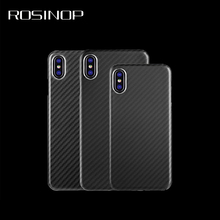 ROSINOP Ultrathin Carbon Fiber TPU Soft Case For iphone xs max xr x 6 7 8 plus Original Camera Len Drop Protection Silicon Cover