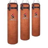 120cm Cowhide Kick Boxing Punching Bag Sandbag For Adult MMA Muay Thai Taekwondo Sport Fitness Training Exercise Equipment boxe|Punching Bag & Sand Bag|   -