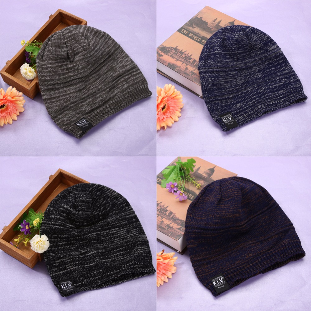 4colors New Men Women Beanie Oversize Warm Hat Ski Knitted Cap Skull Stretchy and soft Hat For Auntumn Winter Spring Wear