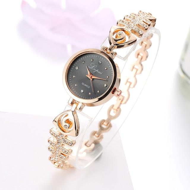 Luxury Brand Women Watches Quartz Ladies Stainless Steel Bracelet Watch Dress Clock Hours montre Femme reloj mujer #126
