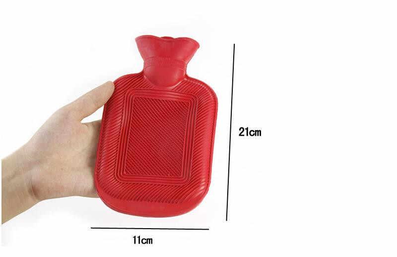 زجاجة الماء الساخن لتخفيف الآلام السرير جهاز تدفئة محمول الاسترخاء الحرارة آلة العلاج بالتدليك الشتاء المطاط كيس ماء ساخن ملء مليئة بالماء