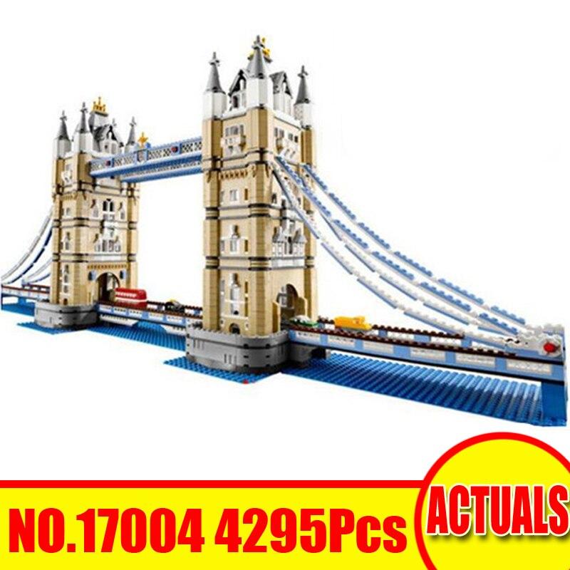 где купить Lepin 17004 4295Pcs City Street Figure London Tower Bridge Compatible 10214 Building Blocks Bricks Toys For Children Model Gift по лучшей цене
