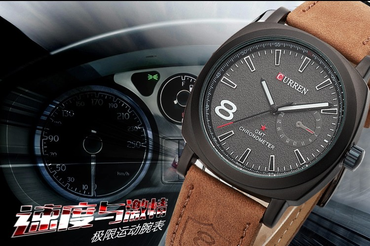 CURREN Original Brand Men Watch Luxury Leather Strap Quartz Watch Waterproof Clock 8139 10