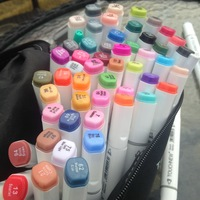 W110155/Six generations Double alcohol oily mark pen 168/204 color PP environmental protection material safe non toxic/