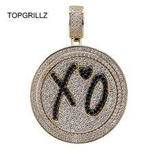 Новинка TOPGRILLZ XO подвеска Спиннер, колье, хип хоп/панк, золотые Серебристые цепи для мужчин, CZ ювелирное изделие в подарок с подвесками