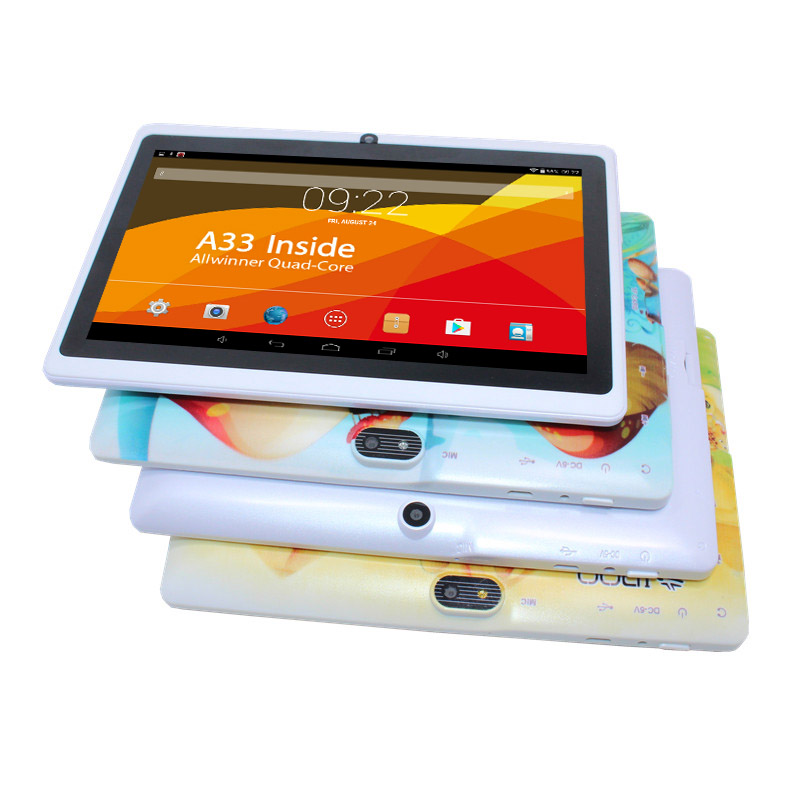 Q88 1 + 8 7 pollice Android 4.4 1 gb/8 gb Allwinner A33 Q88 Più Poco Costoso bambini tablet pc quad core tablet pc Bluetooth wifi 1024x600