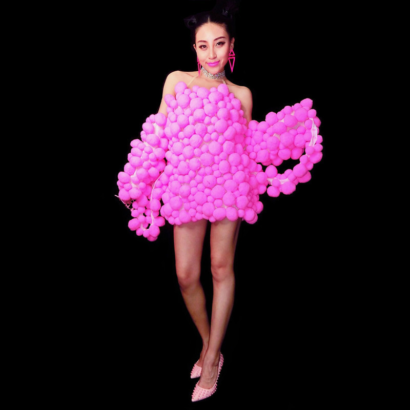 Sexy rouge petites boules de noël une pièce scène porter Costume discothèque femmes Stretch body anniversaire célébrer nouveauté robe