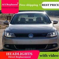 Авто PRO 2011 2014 для vw jetta mk6 фары Тюнинг автомобилей для vw jetta голову лампы Парковка светодио дный DRL + H7 HID комплект + Q5 би ксенон объектива