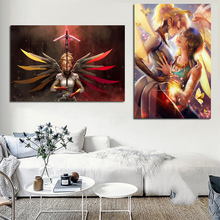 цена на Game Overwatches Character Image Canvas Painting Print Living Room Home Decoration Modern Wall Art Oil Painting Posters Pictures