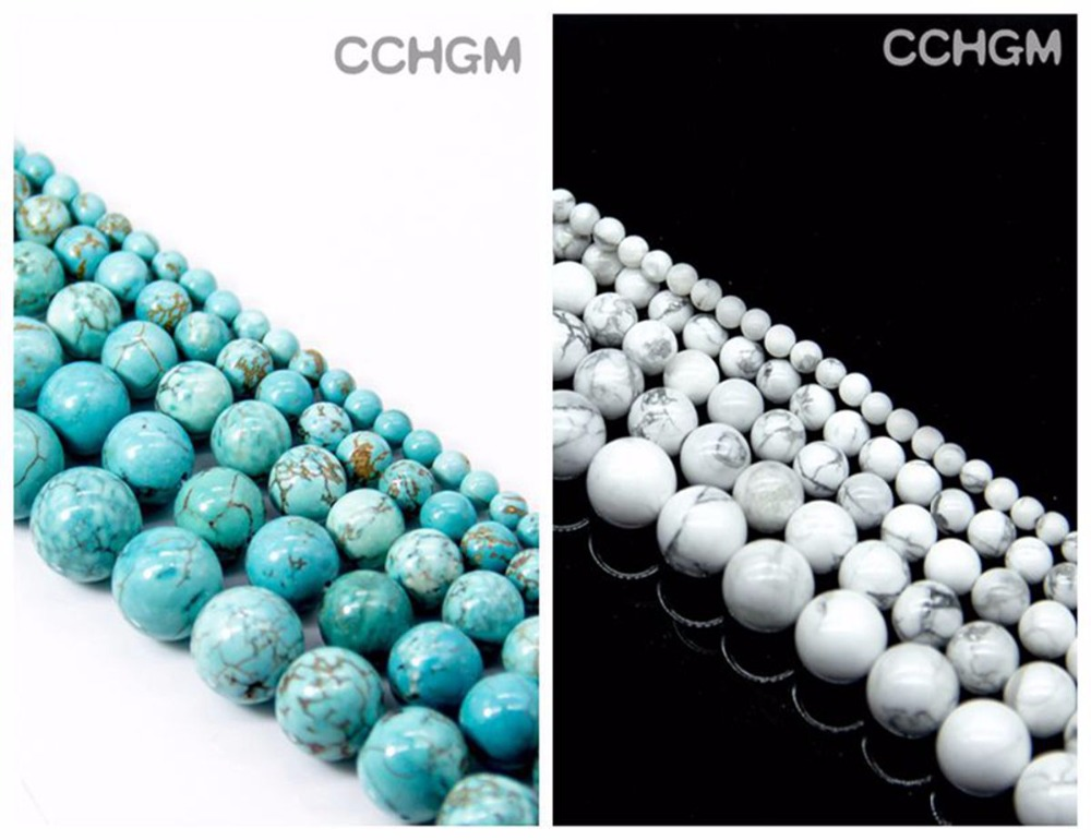 CCHGM strand Hot Sale Wholesale Natural Howlite Turquoises stone Beads For Jewelry Making DIY Bracelet Necklace 4/6/8/10/12mm