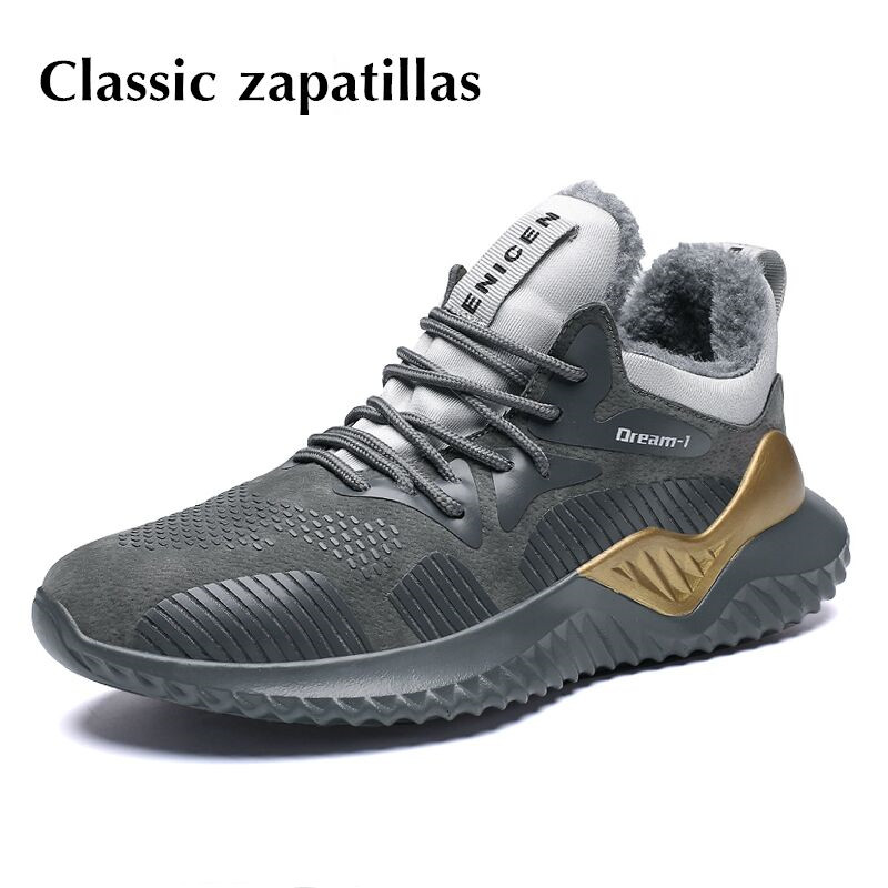 dbb0fc5641a US $19.99 40% OFF Men Boots Winter With Fur Warm Snow Boots Men Winter  Boots Work Shoes Men Footwear Fashion Male Athletic Sneakers For Adult-in  Basic ...