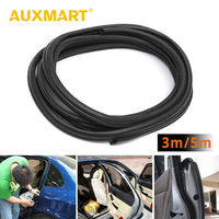 Auxmart 3m 5m Universal Automotive Rubber Weather Draft Seal Strip Car Door Edge Trim Guard Decorative Soundproofing Car Styling
