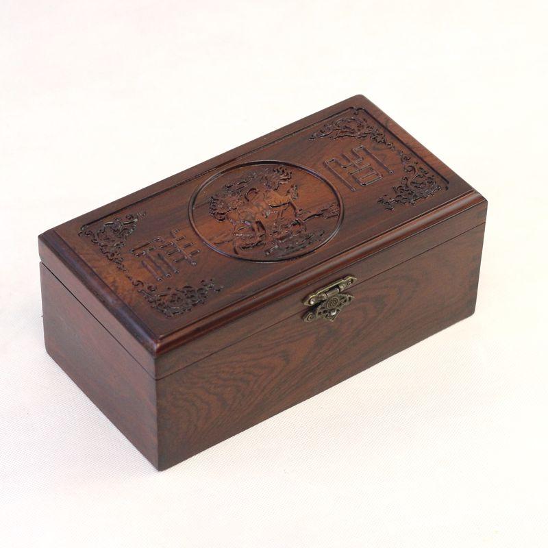 Boîte à bijoux en bois boîte de rangement boîte d'organisation cosmétique titulaire organiseur de bureau Rectangle