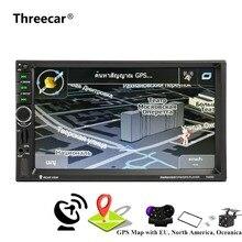 7020 г двойной 2 DIN car audio Авто-радио bluetooth плеер 7 «зеркало Сенсорный экран Авторадио 2din gps навигации стерео FM USB TF