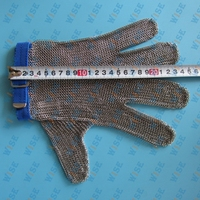 5 FINGER REVERSIBLE STAINLESS STEEL METAL MESH SAFETY GLOVE LARGE #SG515UL