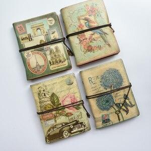 Image 2 - Cuaderno Retro en espiral MaoTu, cuaderno Vintage de viaje, diario antiguo, carpeta de anillas, cuaderno de regalo, papel Kraft en blanco
