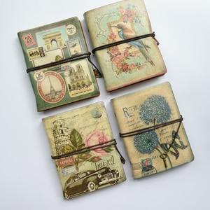 Image 2 - MaoTu Retro Spiral Notebook Vintage Travel Journal Antique Diary Book Ring Binder Gift Notebook Blank Kraft Paper