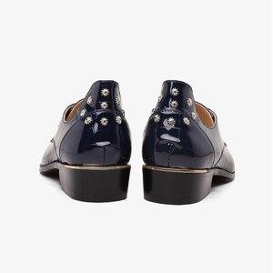 Image 5 - Mode Business Männer Kleid Schuhe Aus Echtem Leder Spitz Slip auf Wohnungen Loafers Formale Büro Schuhe Männer Leder Oxfords
