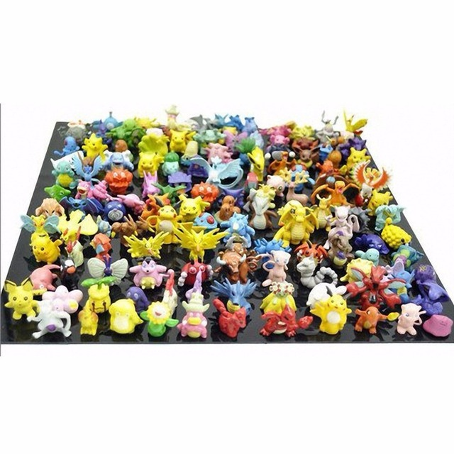 144pcs Mini Pokemon Figurines 2-3cm