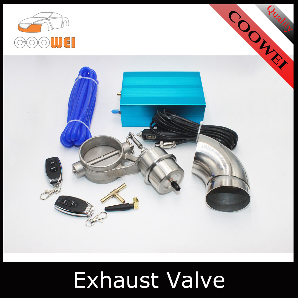 DiLiBee 2.5 Inch 63 mm Electric Exhaust Valve Electric Control Kit Remote Control ByPass Set for Exhaust System with Exhaust Pipe