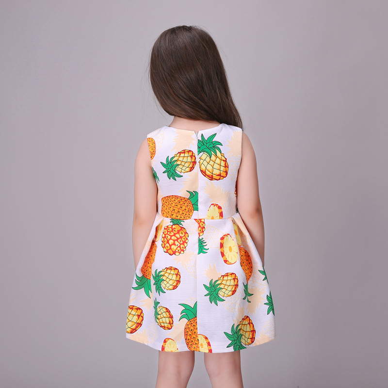 c24d05fbb Fruit Printing Girls Dresses 2016 Baby Girls Frocks Designs Girls ...