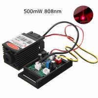 Focusable 500mw 808nm Infrarossi IR Laser Diode Dot Modulo 12V + TTL + Ventola di Raffreddamento Modulo Laser Per macchina Per Incidere di CNC