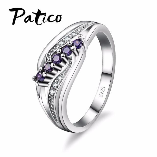 PATICO Luxuriant Bohemia Style Attractive Design Jewelry Purple AAA Crystal S90
