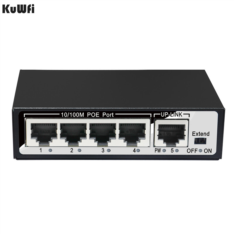 Image 5 - KuWfi 48V 10/100Mbps Network Switch Plug And Play 5Ports Fast Switch Full Duplex & Half Duplex for AP/Camera-in Network Switches from Computer & Office