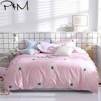 2019 Brief Dandelion Pink Scandinavian Bedlinens Soft Polyester Bedding Sets Twin Queen King Size Duvet Cover Set Pillowcases