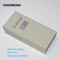 Rainproof LED Power Supply DC12V 15A LED Transformer Waterproof Light Power Adapter Outdoor Application