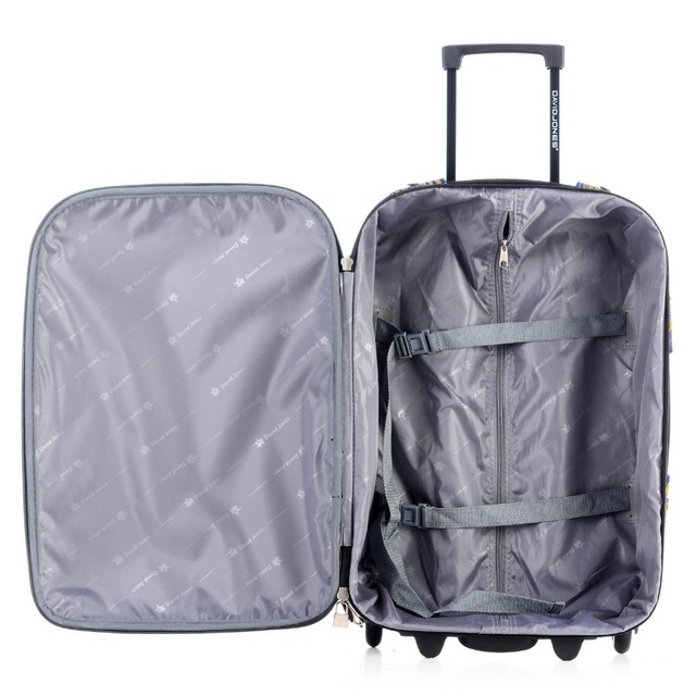 2 PIECE 20 inchesLuggage Fixed Wheels Cabin Suitcase Vintage Trolly Valise Cabine