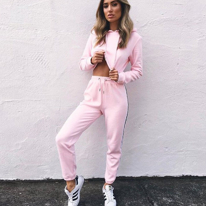 2Pcs Women Ladies Tracksuit