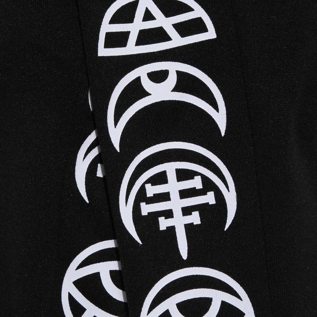 Gothic Print Black Men Hoodies