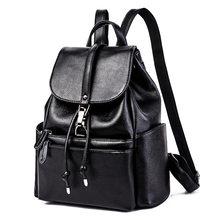 205f32fa5 Famous Designer Brand Genuine Leather Cowhide Women Rucksack Vintage Casual Girls  Daypack School Bookbag Female Travel