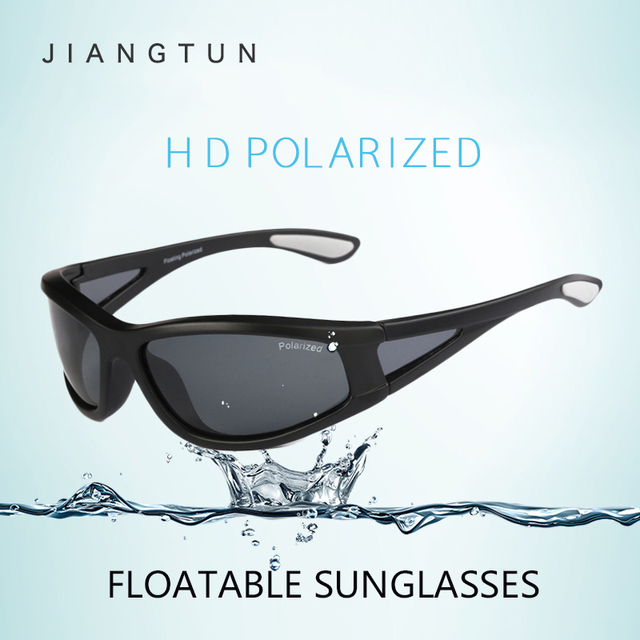 JIANGTUN New Sale Men Floatable Polarized Sunglasses Fishing Driving Glasses New Window Brand designer Float On Water Sun Glass