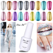 Beau Gel Super Shinny 34 Color Platinum Series Nail Varnishes UV LED Curing Semi Permanent Soak Off Nail Lacquer for Manicure(China)