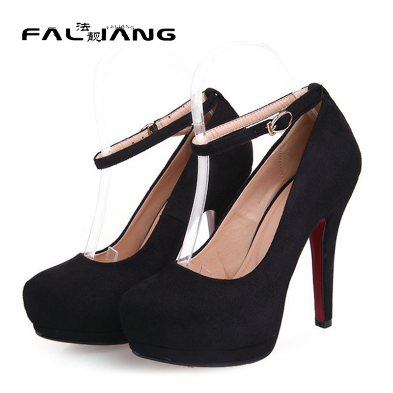 ФОТО Spring/Autumn round Toe 12cm thin heels pumps nubnck leather sexy wedding woman shoes black green red high heel shoes