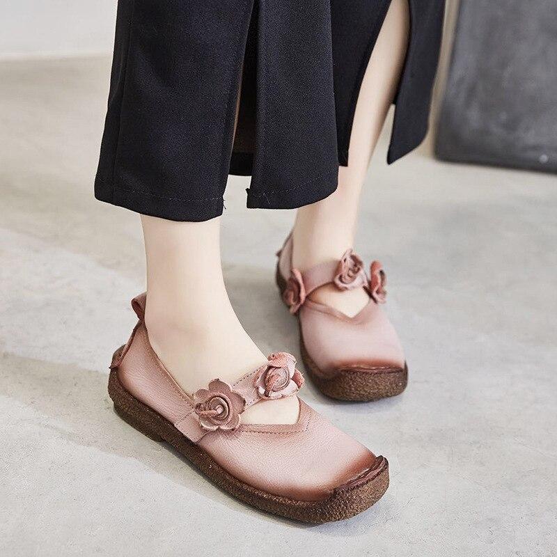 GYKZ 2018 New spring and summer nostalgia design for women flat shoes unique design women 2018 spring summer