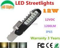 Nhà máy bán hàng trực tiếp 12 w đường phố dẫn Lights DC 12 v đến 24 V IP65 đèn sân vườn, bảo hành 3 năm, CE RoHS đèn cảnh quan 12 pcs/lote