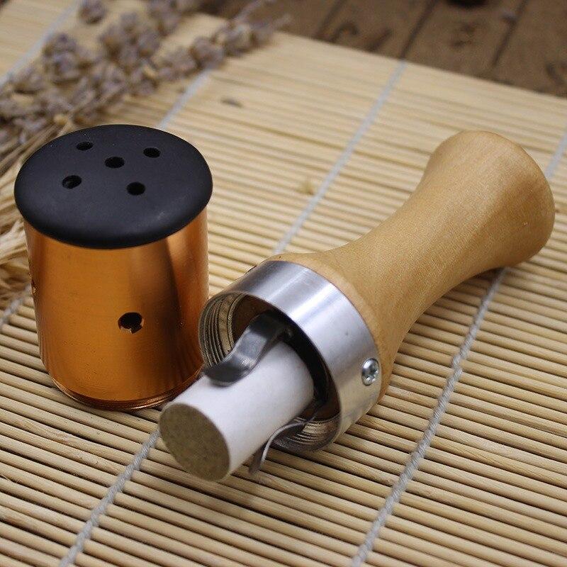 Wooden Moxibustion energy stick stone needle Massage roller Warm Moxa Moxibustion burner for face abdomen Mocxibustion massage