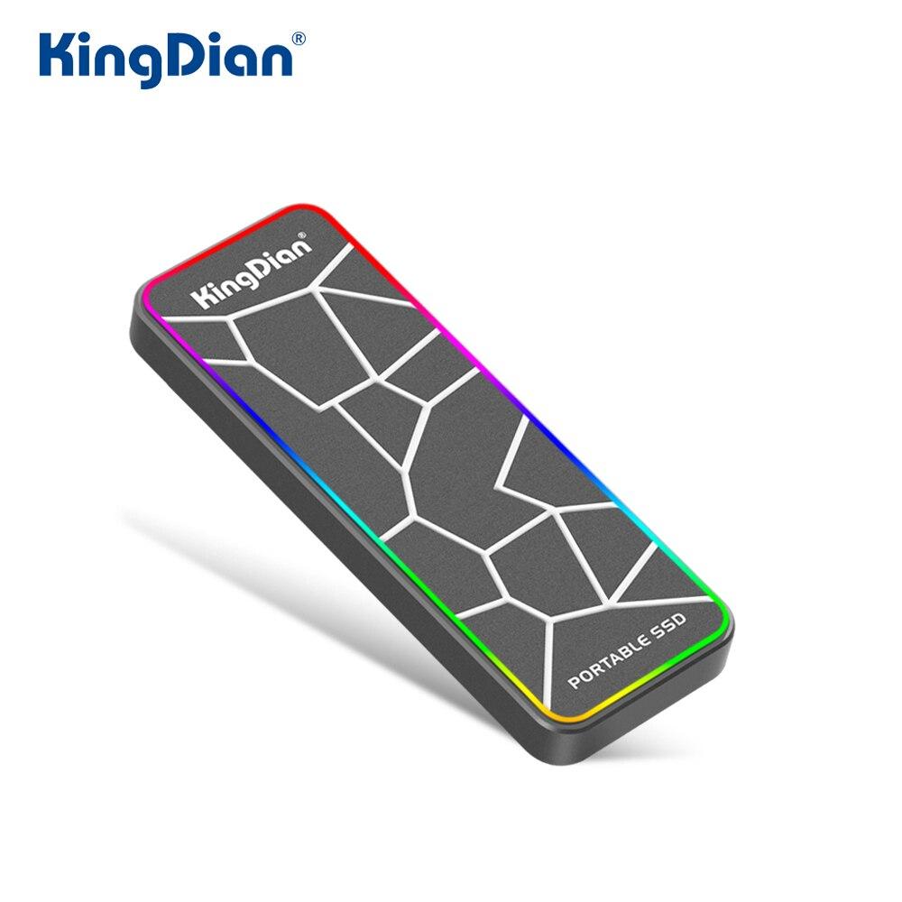 KingDian 120 gb 250 gb 500 gb Probable SSD USB 3.0 externe SSD 500 gb externe à semi-conducteurs éclairage pour téléphone portable